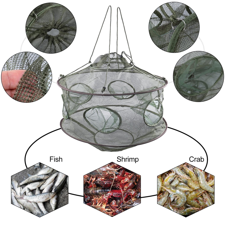Sougayilang güçlendirmek otomatik balık ağı naylon katlanabilir yakalamak balık tuzak balık karides Minnows yengeç dökme örgü balık ağı