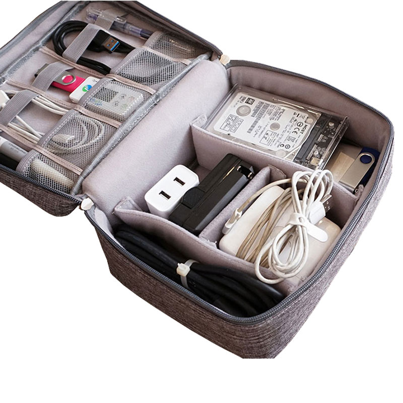 Shockproof Cable Organizer Bag Waterproof Earphone Digital USB Cable Sorting Travel Insert Bags Portable Travel Accessories