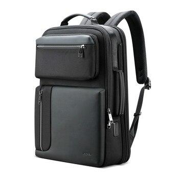 Anti theft Enlarge Backpack USB External Charge 15.6 Inch Laptop Backpack Men Waterproof School Backpack Work Bags For Teenager poso backpack 17 3inch laptop backpack waterproof backpack backpack men s backpack anti theft backpack,