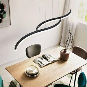 Image 3 - Minimalism modern led pendant lights for dining room kitchen black/white aluminum Pendant lamp suspension luminaire lustre led