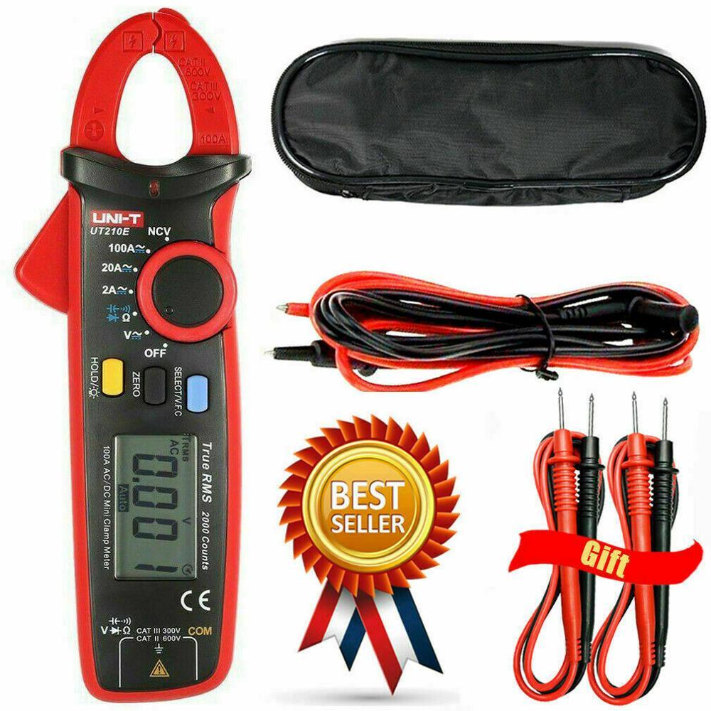 UNI-T UT210E True RMS Mini Digital Clamp Meters AC/DC Current Voltage Auto Range VFC Capacitance Non Contact Multimeter Diode