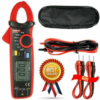 UNI-T UT210E/UT210D Digital Clamp Meter True RMS Multimeter AC / DC Current Detector Handheld,Send Two Test Lines. uni t lcd ut61c ut 61c handheld modern digital multimeter ac dc meter
