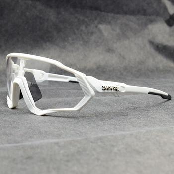 Photochromic ciclismo óculos de sol homem & mulher esporte ao ar livre óculos de bicicleta óculos de sol óculos de sol gafas ciclismo 1 lente 32