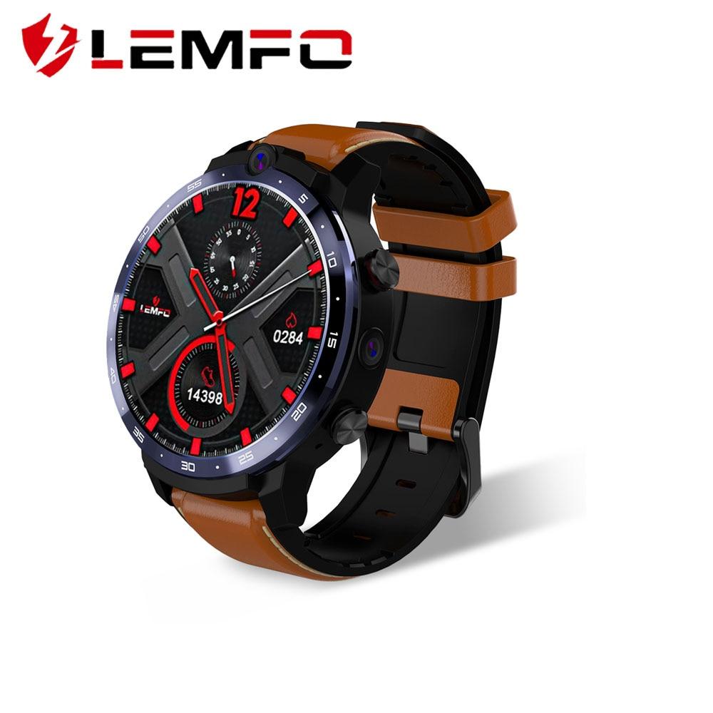 LEMFO LEM12 Smart Watch 500W 800W 2 Camera GPS Smartwatch Men 4G Smart Watch Phone Heart Rate 3GB 32GB 1 6inch Big Screen Watch