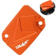 цена на Wiith logo Motorcycle Front Brake Fluid Reservoir Cover Cap duke LOGO For KTM 690 Duke 2014 2015 2016 duke