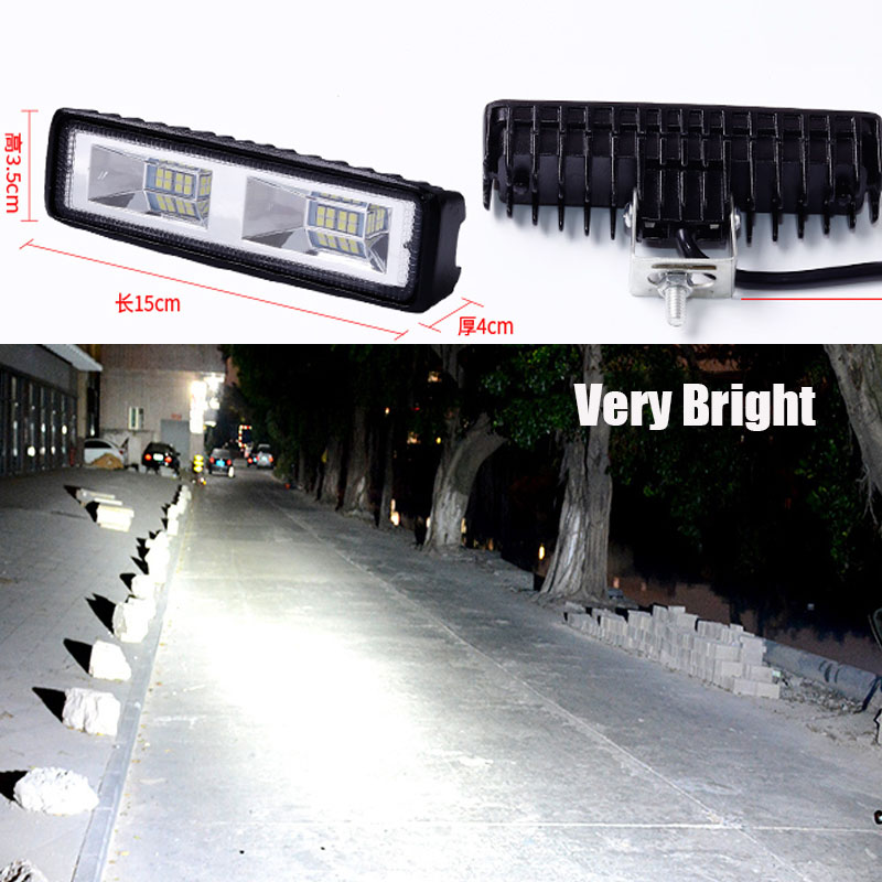 Светодиодный Headlig Автомобильный светодиодный рабочий светильник светодиодный рабочий свет 12V-24V i-образный 6-дюймовый 16 модернизация вспомо...