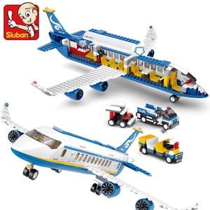 Image 3 - 463Pcs City Airport Airbus Aircraft Airplane Plane Brinquedos Avion Technic Building Blocks Bricks Educational Toys for Children