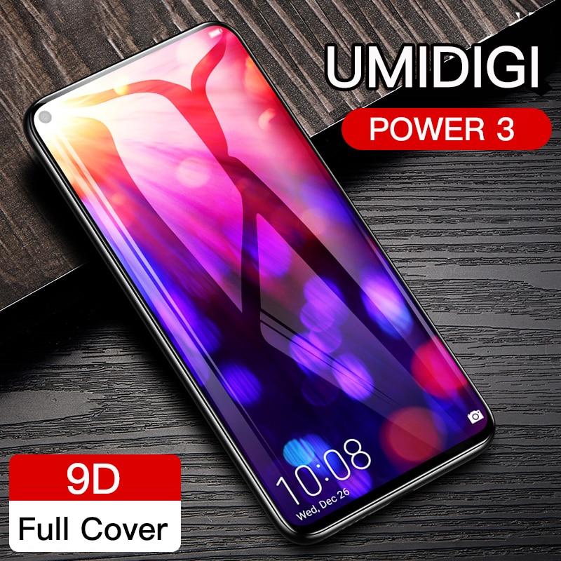 Auroras For Umidigi Power 3 Screen Protector Tempered Glass Film For UMIDIGI POWER 3 9D Full Cover Screen Film