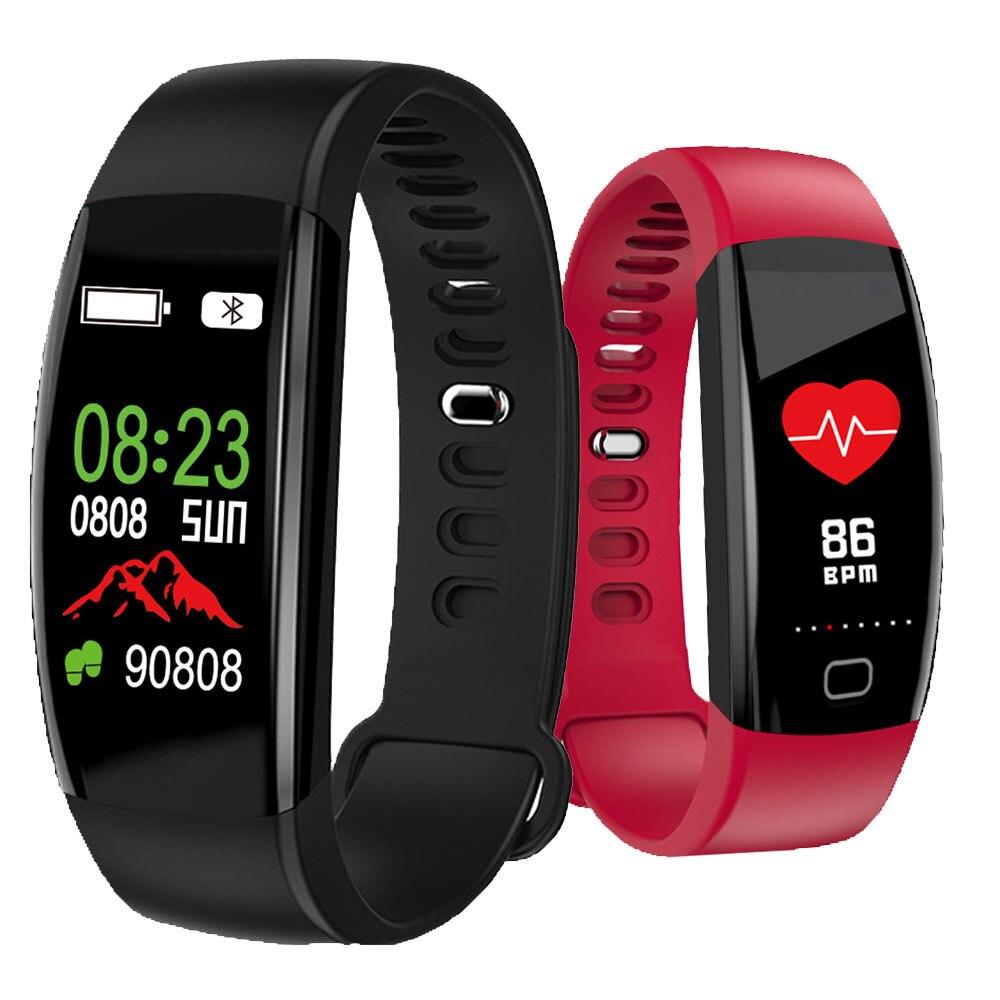 Blood Pressure Monitor Smart Bracelet Men Women Sport Tracker Heart Rate Rubber Wristband Health Management Electronic Watch