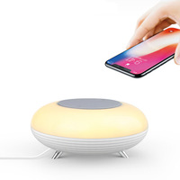 Wireless charger multi function night light with mobile phone wireless charger creative smart wireless charging lamp