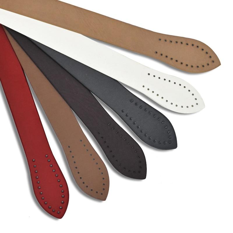 60CM Shoulder Strap Handbag Leather Bag Strap Belt DIY Accessories Handle With Clasp Buckle PU Black Replacement Bags Strap New
