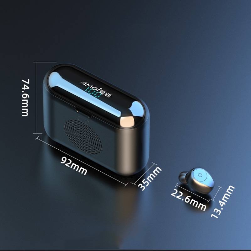 New Amio F9 Mini Bluetooth Speaker Portable Wireless Speaker Sound System With Bluetooth headset and 2000mAh mobile power