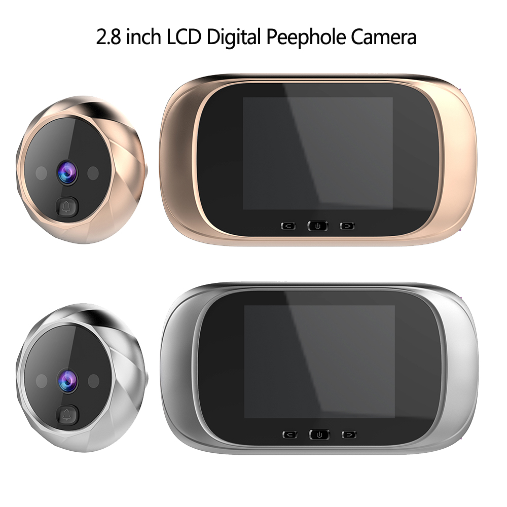 2.8 inch LCD Color Screen Digital Doorbell 90 Degree Door Eye Doorbell Electronic Peephole Door Camera Viewer Outdoor Door Bell|Doorbell| - AliExpress