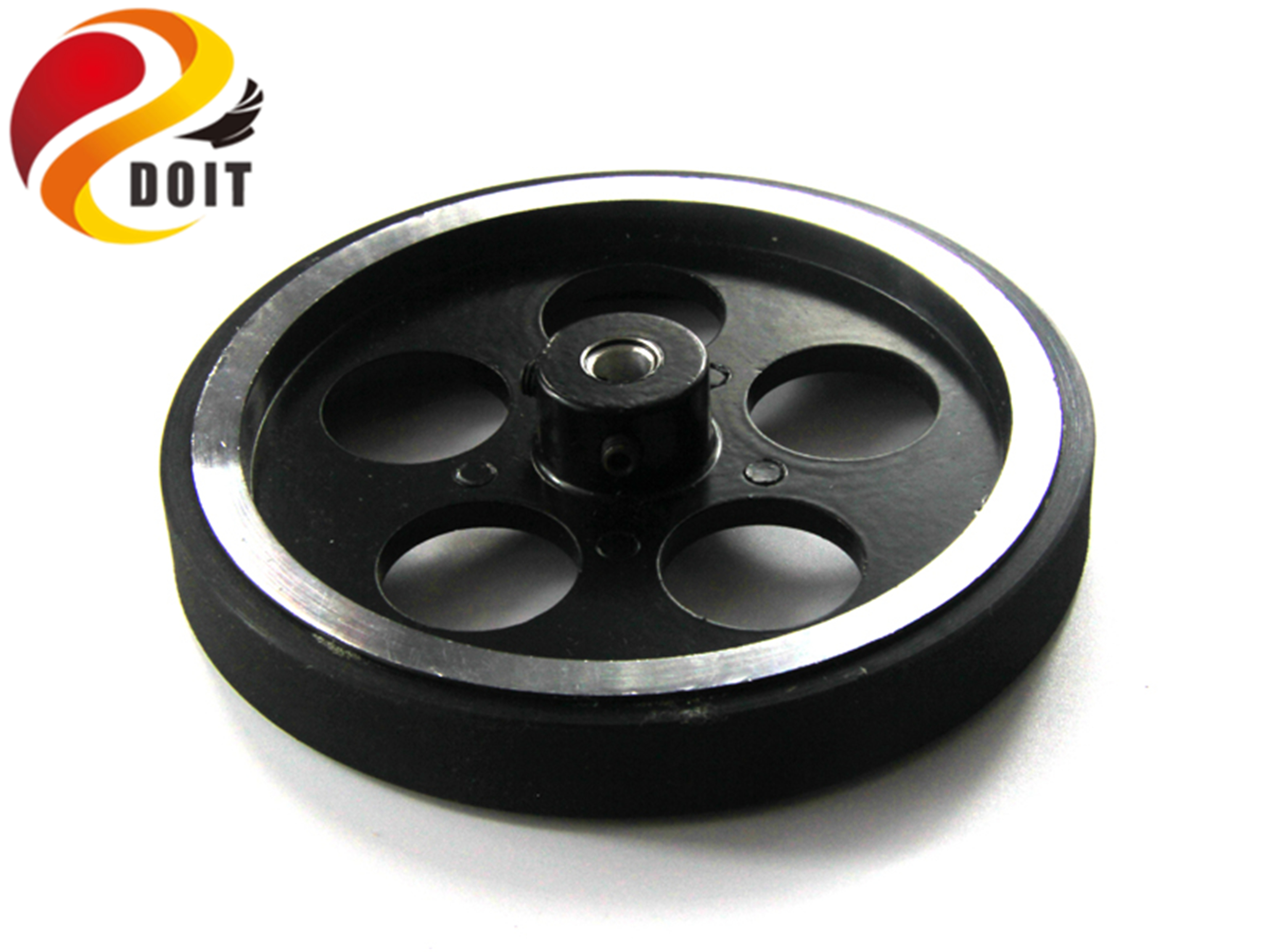 SZDOIT 50-100KG Metal Load-bearing Wheel for RC Robot Car Toy Parts Supporting Wheels Diameter 65mm/95mm