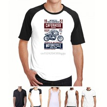 T Shirt Divertente Uomo Maglietta Con Stampa Motori Moto Vinatge Caferacer Tuned T Shirt Summer Tops Tees Punk Tops(China)