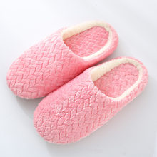 Women Indoor Warm Slippers Plush Lovers Home Slipper Anti Slip Winter Shoes Woman House Floor Soft Bottom Mute Slides 2019 New(China)