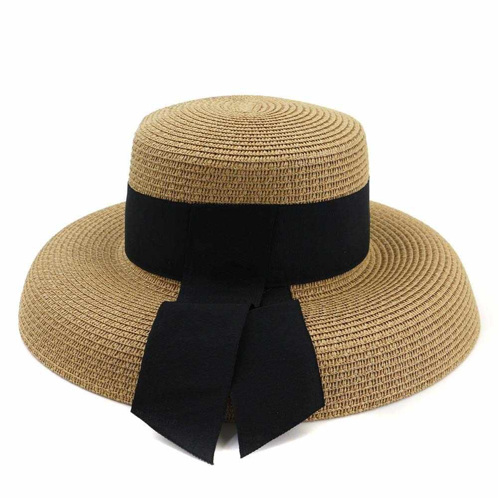 Zld Hepburn Angin Besar Keponakan Musim Panas Perjalanan Luar Ruangan Pantai Tepi Laut Sun Hat Sun Hat Visor Topi Pantai Wanita Topi