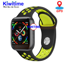 KIWITIME IWO 9 Smart Watch Series 4 44mm GPS Sports Heart Rate Monitor Smartwatch for Apple iOS 10 iPhone 8 Xiaomi Android Phone(China)
