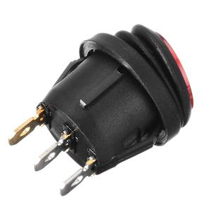 Image 4 - MAYITR 4Pcs Waterproof 12V 12A On/Off 3 Pin SPST Dot Switch Car Boat LED Round Rocker Switch Red/Blue/Orange/Green