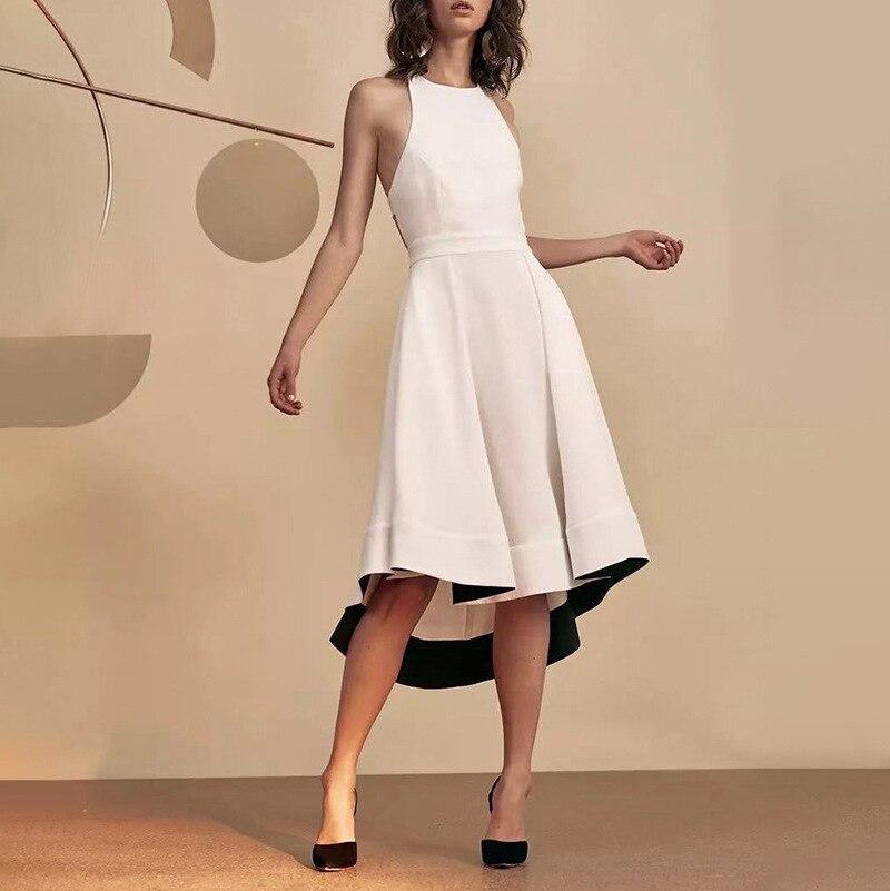 Australia Popular Brand Elegant Debutante-Style 2020 Early Spring New Style Fashion Backless Bow Irregular Dress Women's Fashion