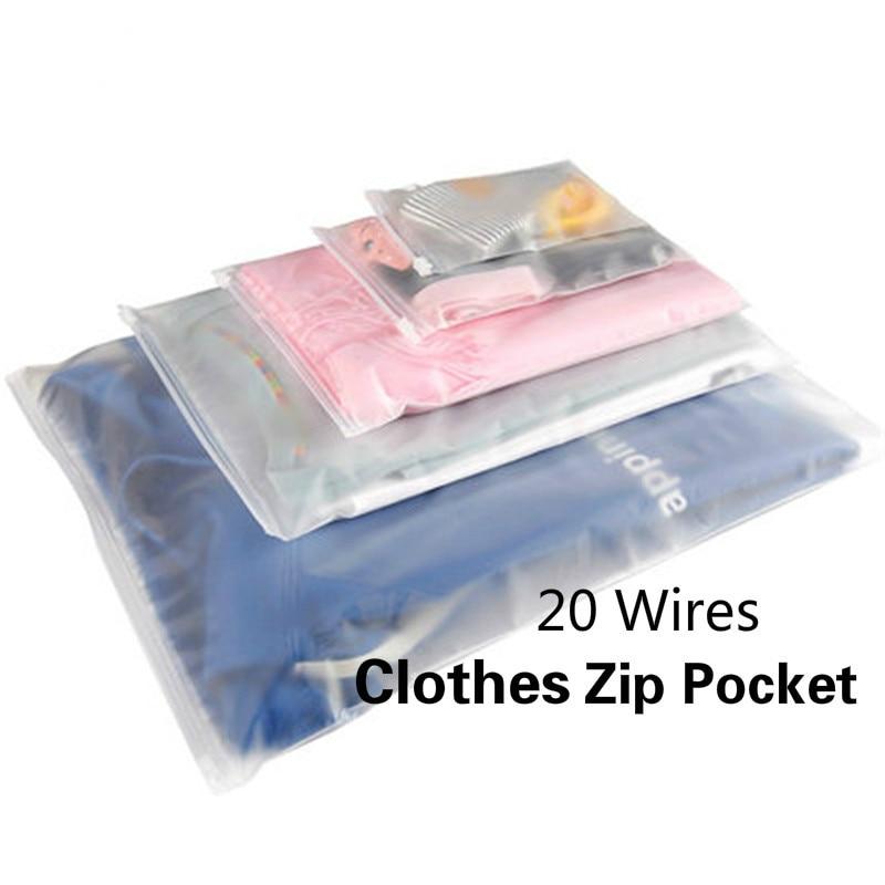 Пластиковые пакеты для хранения, матовые прозрачные дорожные пакеты на молнии с застежкой-молнией и клапаном с застежкой-молнией, упаковоч...