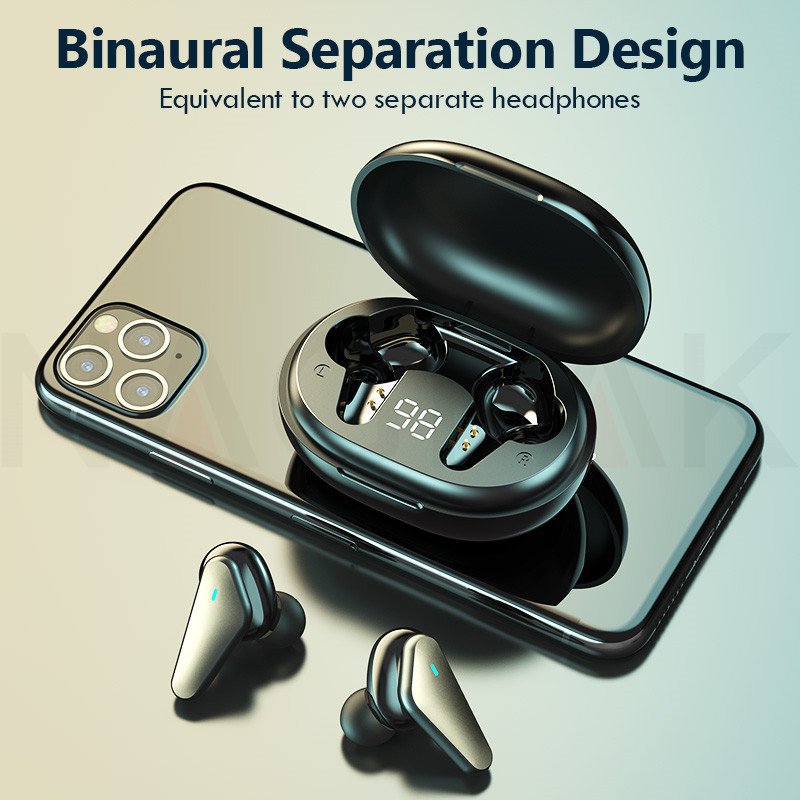 TWS Bluetooth 5.0 Headphones Wireless Waterproof Earphones Noise Cancelling 9D Stereo Sports Earbuds Headsets With Microphone 4