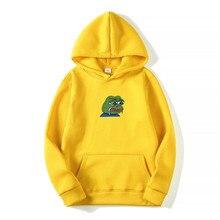 Sad tearing frog Print Hoodies Men Women Sweatshirts New Harajuku Hip Hop Hoodies Sweatshirt Male Japanese Street clothing