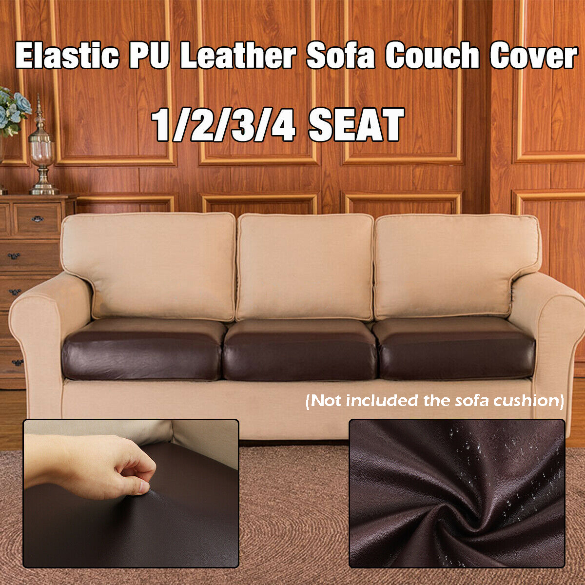 1 2 3 4 Seater Elastic Pu Leather