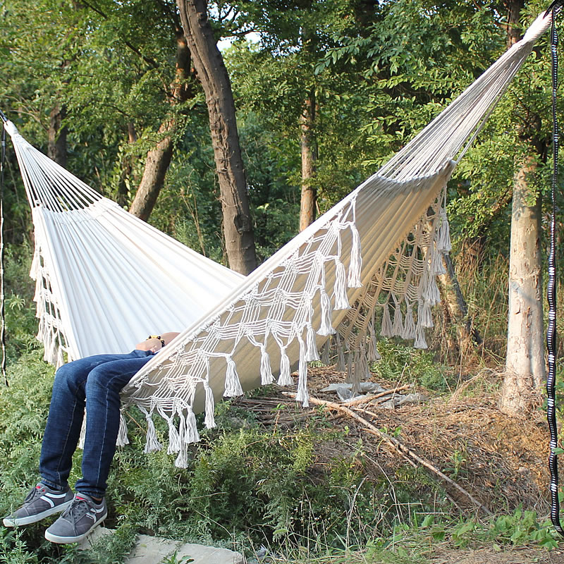 High Quality 200x150cm Hammock Garden Swing Sleeping Bed Romantic Lace Outdoor Camping Hanging Chair Portable