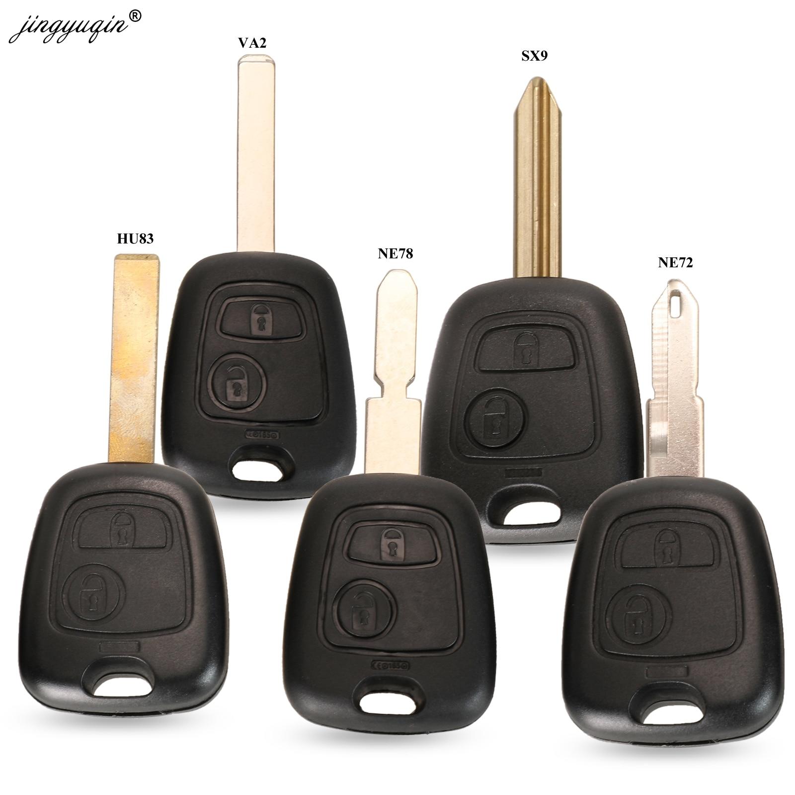 Jingyuqin 2 кнопки дистанционного ключа автомобиля случае оболочки Fob для Citroen C1 C4 XSARA Picasso Fit Peugeot 106 107 207 307 407 206 306 406