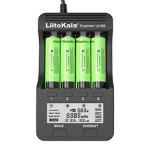 2020 liitokala Lii 500 충전식 배터리 충전기 Lii PD4 Lii S1 lii S2 lii S4 18650 3.7V 21700 26650 20650 AA AAA