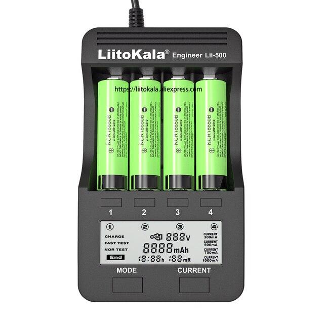 2020 liitokala Lii 500 şarj edilebilir pil şarj cihazı Lii PD4 Lii S1 lii S2 lii S4 18650 için 3.7V 21700 26650 20650 AA AAA