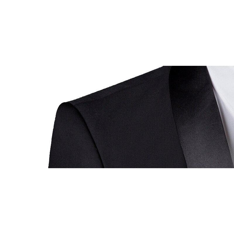 Модный клетчатый мужской костюм на заказ, смокинги для жениха, свадебные костюмы из 3 предметов, блейзер для лучшего человека (костюм + брюки ... - 3