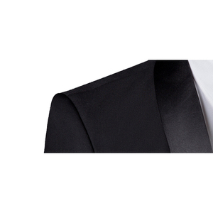 Image 3 - Shenrun الرجال سهرة سليم صالح بدلة على الموضة الزفاف شال التلبيب 3 قطع نحيل واحدة الصدر سترة حفلة موسيقية المغني زي