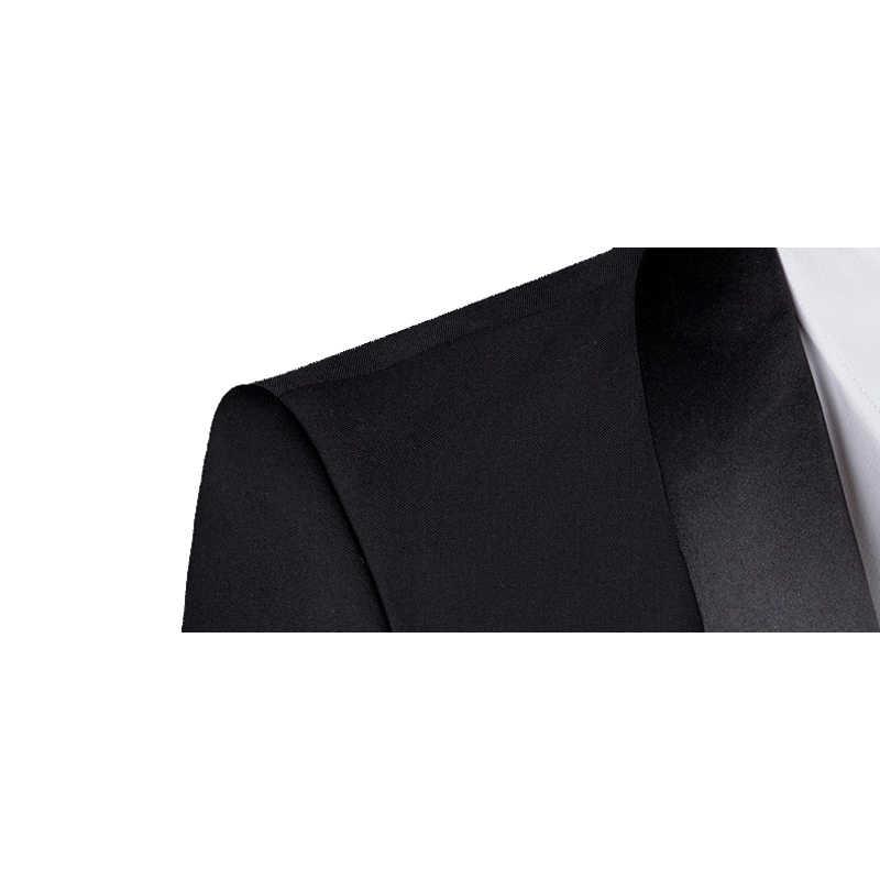 Shenrun 男性タキシードスリムフィットファッションスーツ結婚式ショールラペル 3 個スキニーシングルブレストジャケットパーティー歌手の衣装