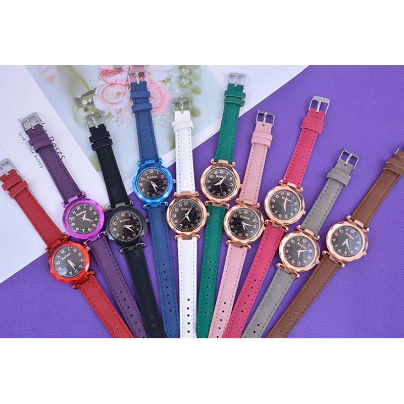 Canvas Watch Luxury Starry Sky Bracelet Watches For Women Crystal Analog Quartz Wristwatches Fashion Ladies Sports Dress Clock