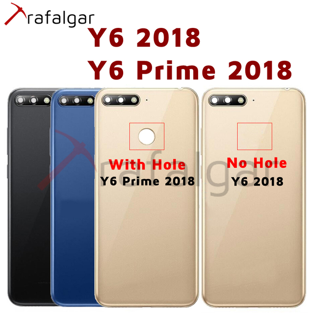 Для Huawei Y6 2018 Задняя крышка батареи задняя дверь корпус чехол для Huawei Y6 Prime 2018 крышка батареи с кнопкой громкости питания