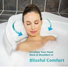 Breathable mesh spa bath pillow with suction cups neck and back