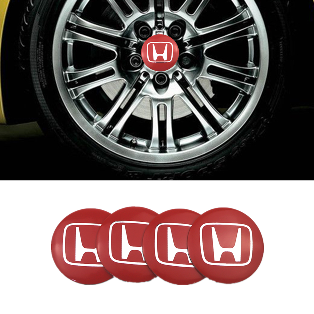 4pcs 56mm Car Styling Tire Wheel Center Hub Caps Covers Sticker For Honda Mugen Power Civic Accord CRV Hrv Jazz Emblem