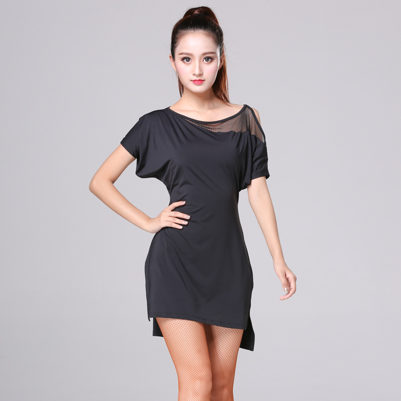 Latin Dance Dress Summer Short Sleeve Women Training Performance Wear Practice Clothes Ballroom Costumes
