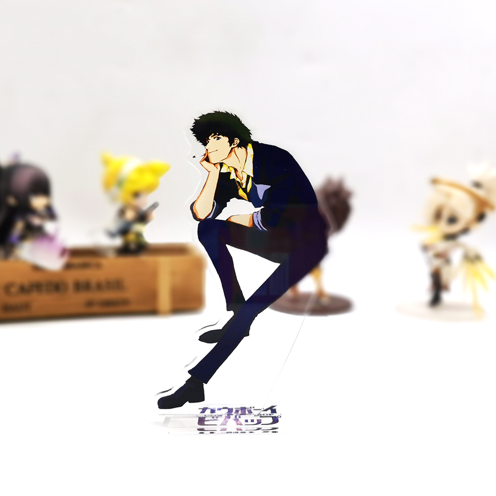 Cowboy Bebop Spiegel Spike HM Acrylic Stand Figure Model Plate Holder Cake Topper Anime Toy