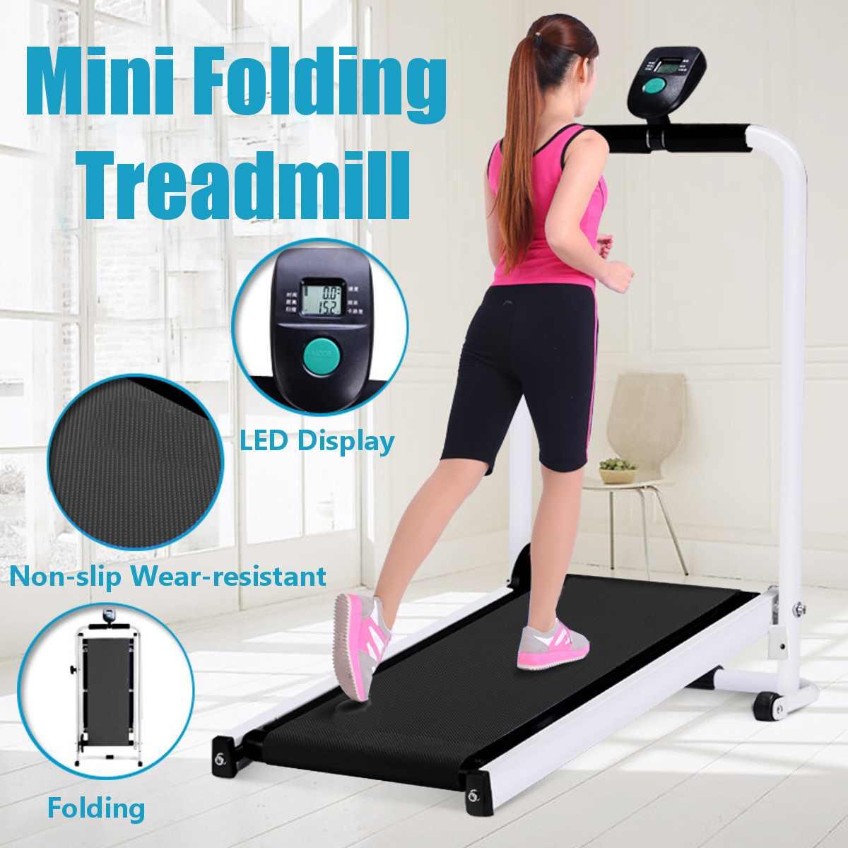 Tapis roulant pliable électrique LED affichage jogging espace marche Machine aérobie Sport Fitness équipement pas d'espace de plancher facile à déplacer - 2