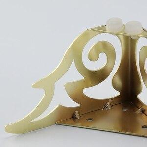 Image 5 - 4pcs 골드 패턴 금속 가구 다리 소파 발 머리핀 다리 머리 핀 다리 가구 보호 발 하드웨어 침대 라이저
