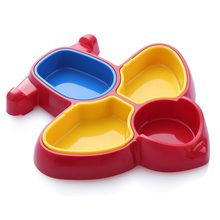 Plane Shape Kids Breakfast Divided Plate Ceramic Cartoon Digger Car Air Plane Baby Dinnerware Dish(China)