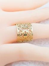 Anillo de acero inoxidable para mujer, sortija de lujo, estilo clásico, Color dorado