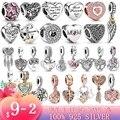 New 100% 925 Sterling SILVER charms Little cute elephant Dangle Charm fit Original Pandora Bracelet silver 925 jewelry