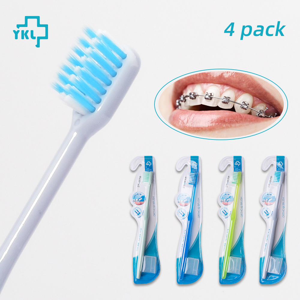 Beauty & Health ... Oral Hygiene ... 32812093934 ... 1 ... 2018 New Arrival Y-kelin U-shaped Orthodontic Toothbrush Soft Bristle orthodontia teeth brush brace  toothbrush small head ...