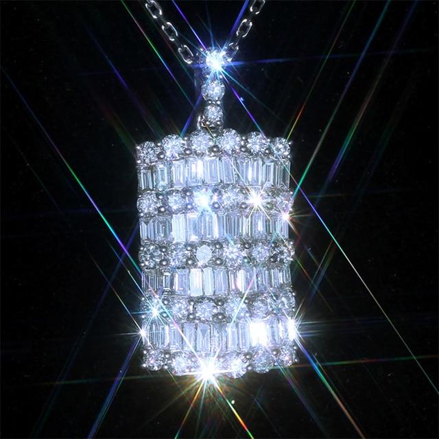 Huitan, модное ожерелье с подвеской, для девушек, для влюбленных, роскошный кристалл, циркон, деликатный дизайн, вечерние аксессуары, высокое ка...