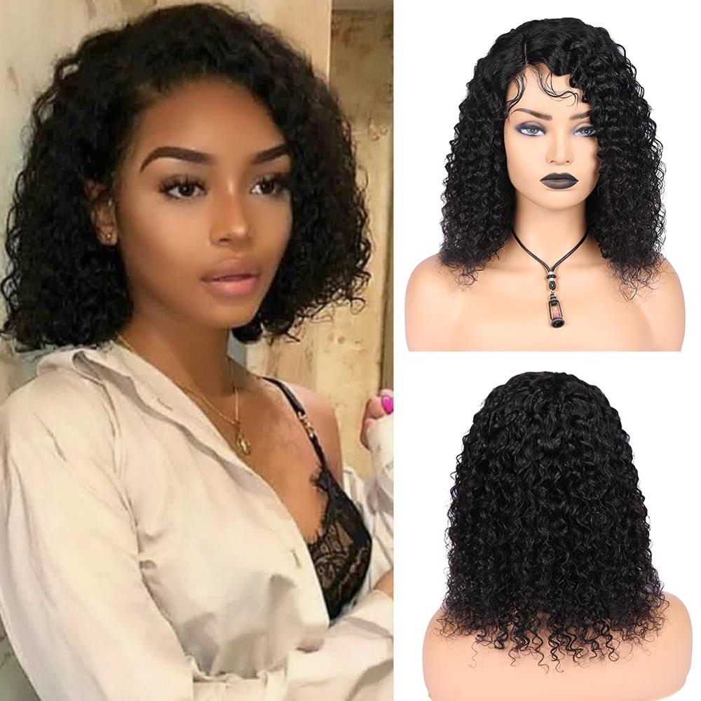 Wignee Side Lace Part Curly Human Hair Wigs With Baby Hair For Black Women PrePlucked Natural Hairline Fashion Cheap Human Wig