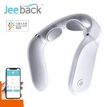 مدلك عنق الرحم G2 عشرات نبض حماية الرقبة فقط 190g تأثير مزدوج ضغط ساخن L شكل ارتداء العمل ل Mijia App